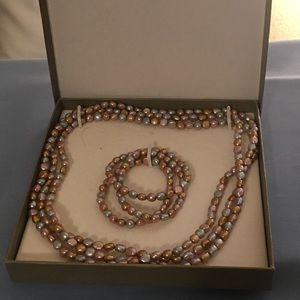 Honora freshwater pearl necklace & bracelets set